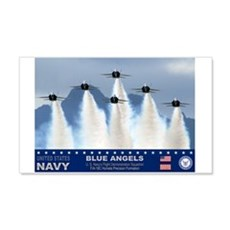 Blue Angels F-18 Hornet 20x12 Wall Peel