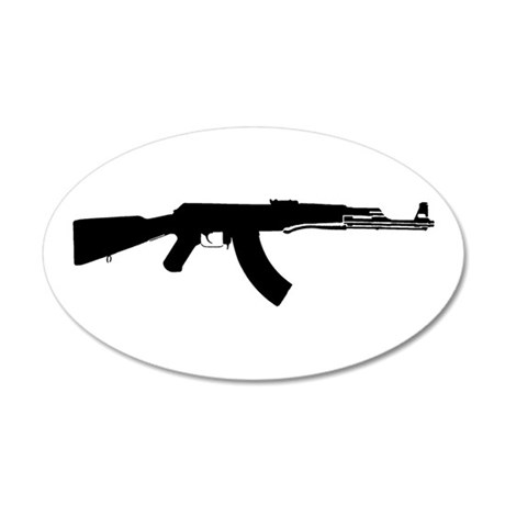AK-47 35x21 Oval Wall Peel