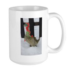 Christmas Goose with scarf and hat Mug
