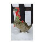 Christmas Goose with scarf and hat Sticker (Rectan
