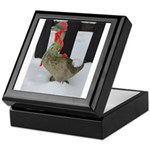 Christmas Goose with scarf and hat Keepsake Box