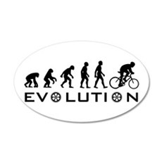 Evolution Of Bike 20x12 Oval Wall Peel