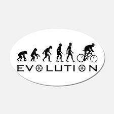 Evolution Of Bike 20x12 Oval Wall Peel