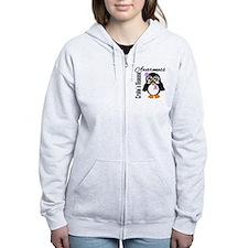 Penguin Crohn's Disease Zip Hoodie