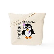 Penguin Crohn's Disease Tote Bag