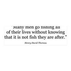 Thoreau Quote Gear 36x11 Wall Peel