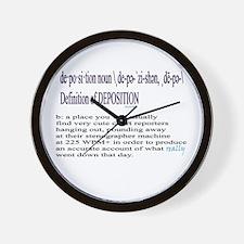 DEPOSITION DEFINITION Wall Clock