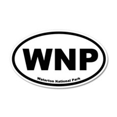 Waterton National Park 20x12 Oval Wall Peel