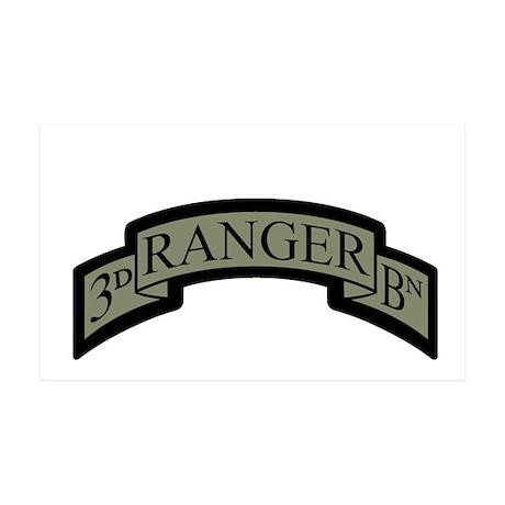 3rd Ranger Bn Scroll ACU 35x21 Wall Peel