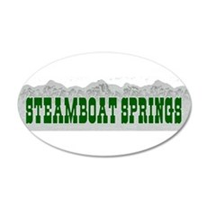 Steamboat Springs, Colorado 20x12 Oval Wall Peel