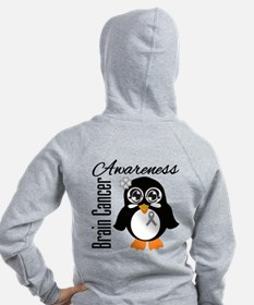 Penguin Cancer Awareness Zip Hoodie