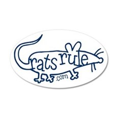 Rats Rule Outline 20x12 Oval Wall Peel
