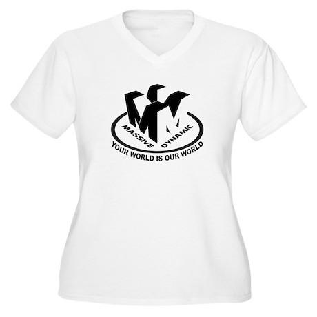 Massive Dynamic Women's Plus Size V-Neck T-Shirt