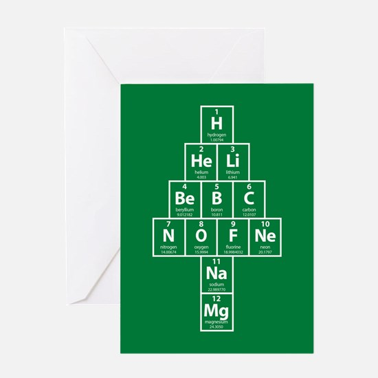 Periodic Tree Christmas Card - Green