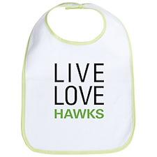 Live Love Hawks Bib