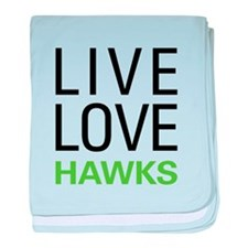 Live Love Hawks baby blanket