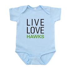 Live Love Hawks Infant Bodysuit
