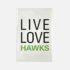 Live Love Hawks Rectangle Magnet