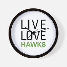 Live Love Hawks Wall Clock