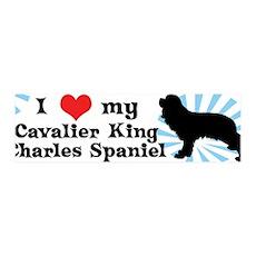 I Love My Cavalier King Charles 36x11 Wall Peel
