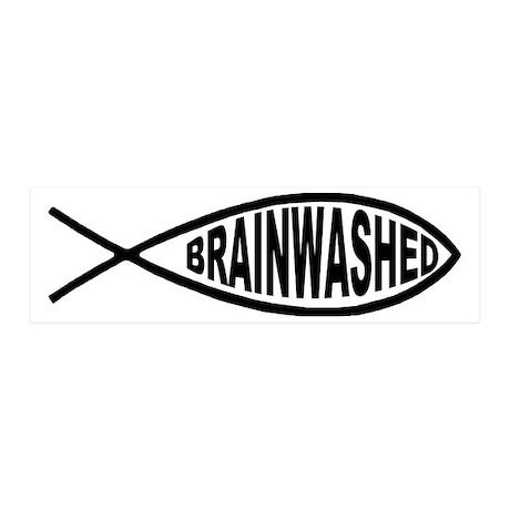 Brainwashed Fish 20x6 Wall Peel