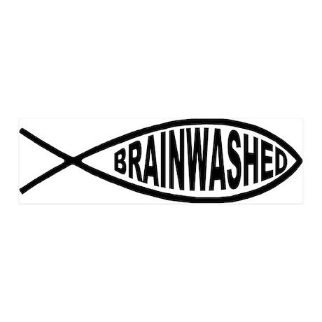 Brainwashed Fish 36x11 Wall Peel