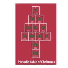 Periodic Table of Christmas Postcards (8pk)