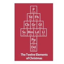 12 Elements of Christmas Postcards (8pk) - Red