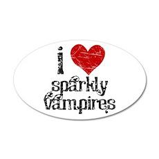 I love Sparkly Vampires 20x12 Oval Wall Peel