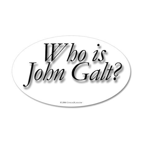 Who is John Galt 20x12 Oval Wall Peel