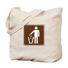 Litter Container Sign Tote Bag