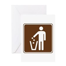 Litter Container Sign Greeting Card