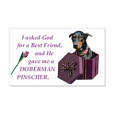 Doberman Sticker (Black,Tan)