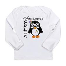 Penguin Autism Awareness Long Sleeve Infant T-Shir