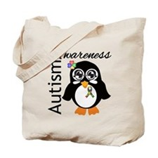 Penguin Autism Awareness Tote Bag