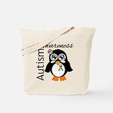 Penguin Autism Awareness Tote Bag