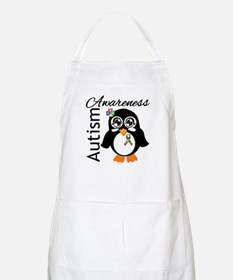 Penguin Autism Awareness Apron