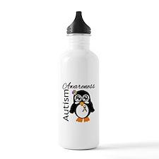 Penguin Autism Awareness Water Bottle
