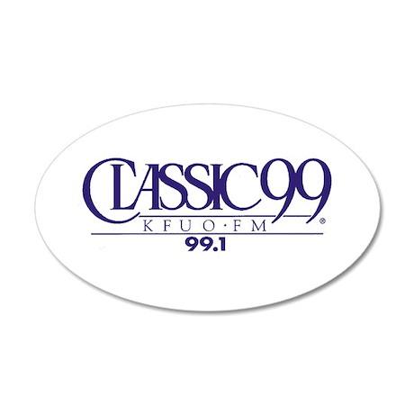 CLASSIC99 20x12 Oval Wall Peel