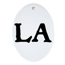 LA Ornament (Oval)