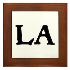 LA Framed Tile