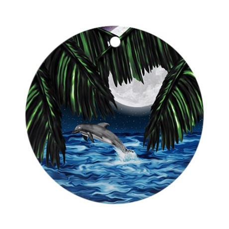 Moonlit Paradise Ornament (Round)