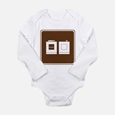 Laundry Sign Long Sleeve Infant Bodysuit