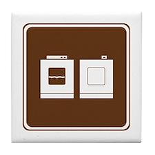 Laundry Sign Tile Coaster