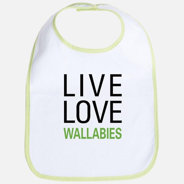 Live Love Wallabies Bib