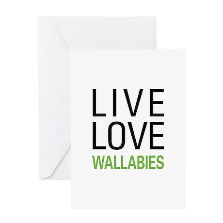 Live Love Wallabies Greeting Card
