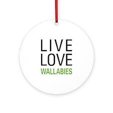 Live Love Wallabies Ornament (Round)