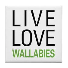Live Love Wallabies Tile Coaster