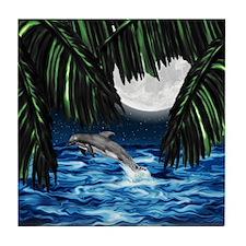 Moonlit Paradise Tile Coaster