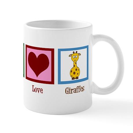 Peace Love Giraffes Mug